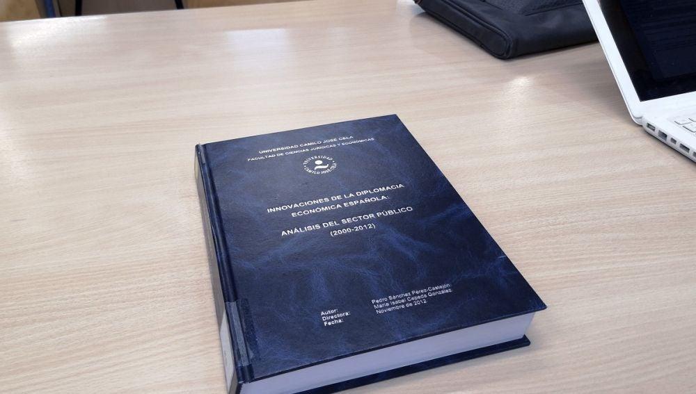 Portada de la tesis de Pedro Sánchez