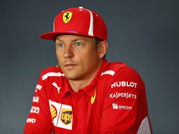 Kimi Raikkonen, en rueda de prensa