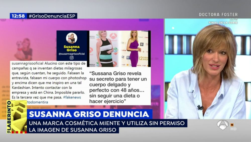 """Susanna Griso explica en 'Espejo Público' su enfado en las redes: """"No soy tan delgada, no tengo ese cuerpo"""""""