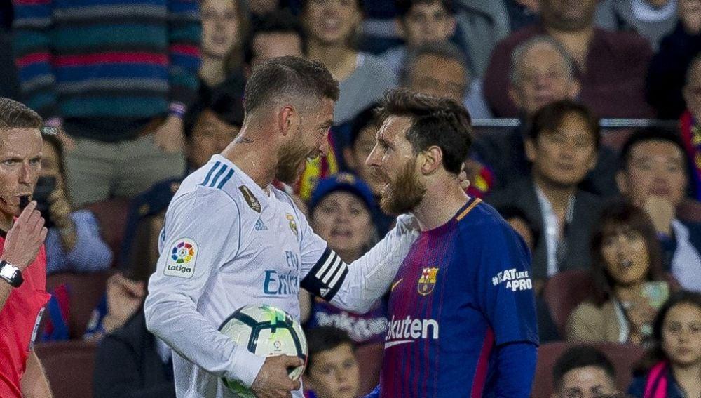Ramos, con Messi