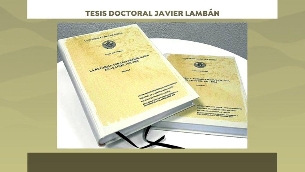 Javier Lambán también hace pública su tesis