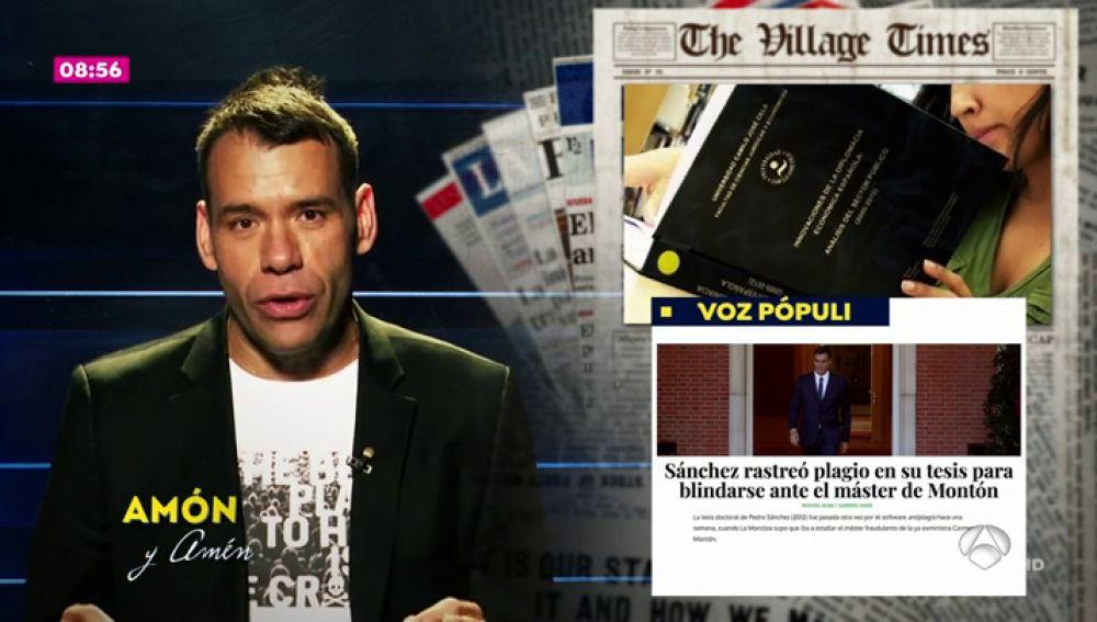 Amón analiza las últimas noticias de los periódicos con 'Amón y amén'