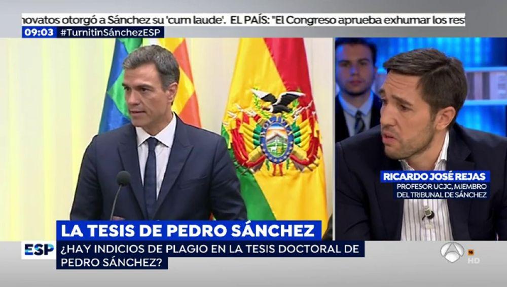 """Un miembro del tribunal que aprobó la tesis de Pedro Sánchez: """"Siempre existe la posibilidad de que se te pase un plagio"""""""