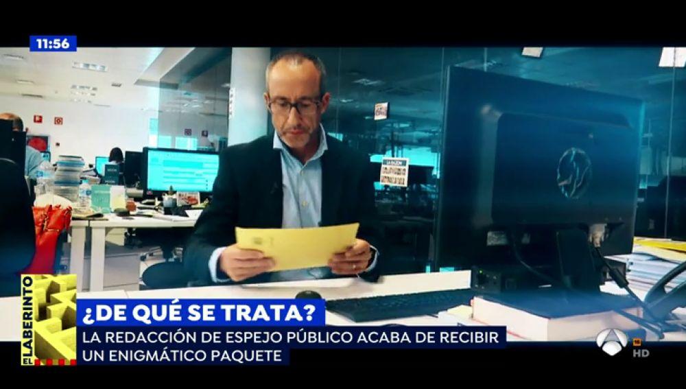 'Espejo Público' recibe un paquete con información confidencial que está contrastando para poder emitir