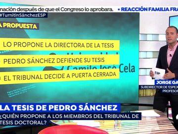 Jorge Gallardo, profesor de la UCJC y subdirector de 'Espejo Público' explica cómo se formó el tribunal que evaluó la tesis de Pedro Sánchez