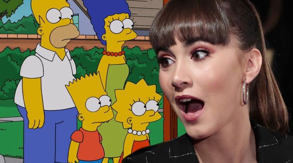 La reacción de Aitana Ocaña a ser dibujada como un personaje de 'Los Simpson'