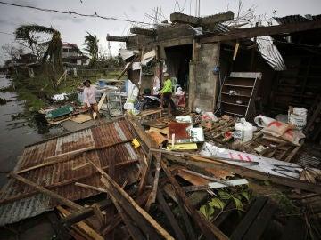 Destrozos en Filipinas