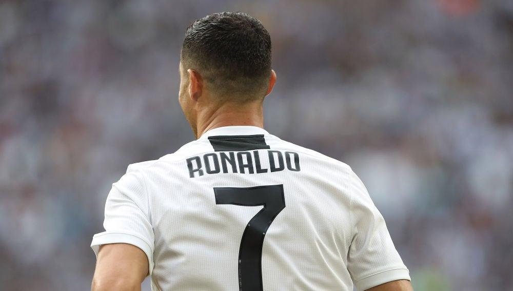 Cristiano Ronaldo, con el '7' a la espalda