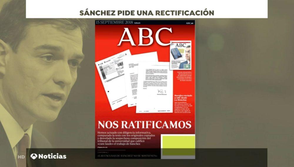 Pedro Sánchez no descarta iniciar medidas legales contra los medios que le acusaron de plagio