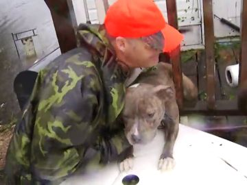 Los servicios de emergencia rescatan mascotas del Huracán Florence