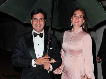 Francisco Rivera y Lourdes Montes en la puesta de largo de Cayetana Rivera