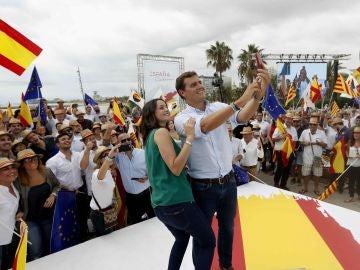 Albert Rivera e Inés Arrimadas en un acto en Barcelona