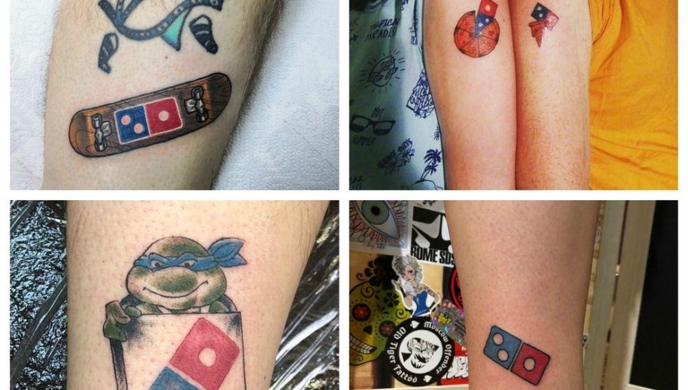 Fotos de tatuajes con el logo de la empresa