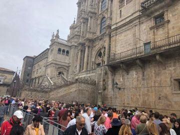 Colas para visitar el Pórtico de la Gloria de la catedral de Santiago