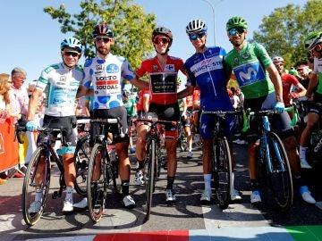 Miguel Ángel López, Tomás De Gent, Simon Yates, Enric Mas y Alejandro Valverde