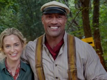 Emily Blunt y Dwayne Johnson en 'Jungle Cruise'