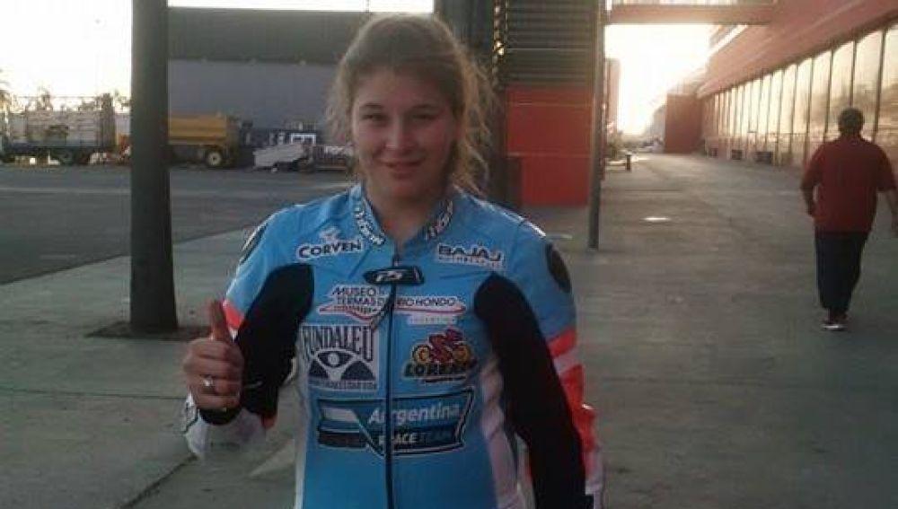 Marikena, antes de sufrir el accidente