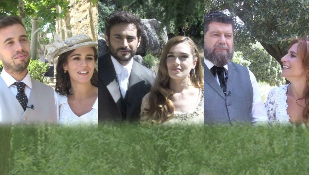 Las parejas de 'El secreto de Puente Viejo' coinciden sobre el futuro del matrimonio entre Antonia e Isaac