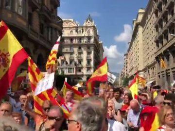 Concentración de los CDR en la Plaza de Sant Jaume