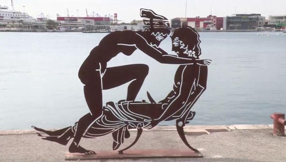 Las esculturas de la polémica en La Marina de Valencia