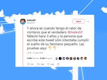 Este conocido tuitero falleció y su hermano mantuvo activa la cuenta