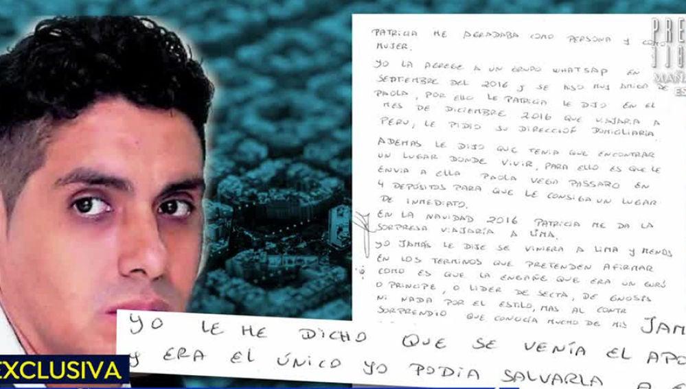 Carta de Felix Steven Manrique