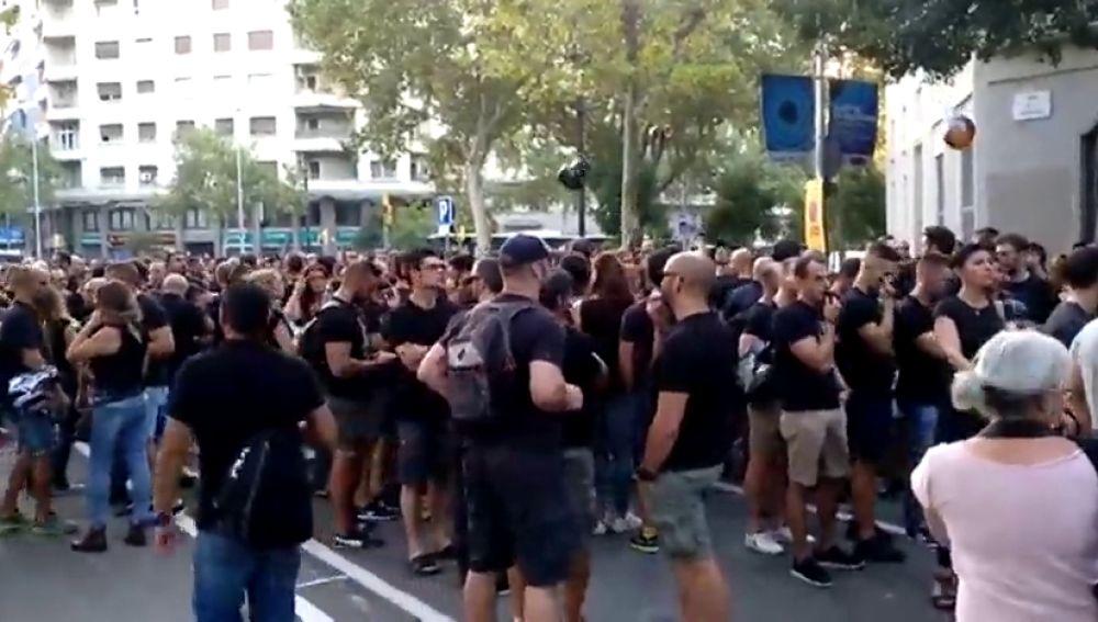 Los Mossos se concentran en Barcelona para reclamar mejoras laborales