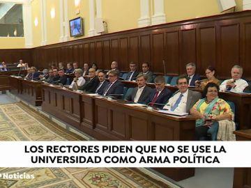 """Los rectores piden a los políticos no utilizar la Universidad """"como arma arrojadiza"""" y una nueva Ley de Universidades con más financiación"""