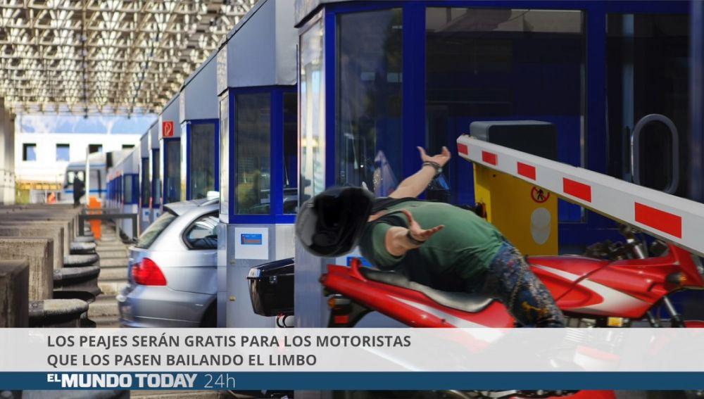 Los peajes serán gratis para los motoristas que los pasen bailando el limbo
