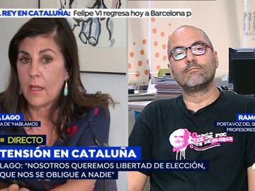"""Presidenta de 'Hablamos Español' al sindicato de profesores USTEC-STEs: """" Queréis que unos niños   estudien en catalán, su lengua materna, y otros no"""""""