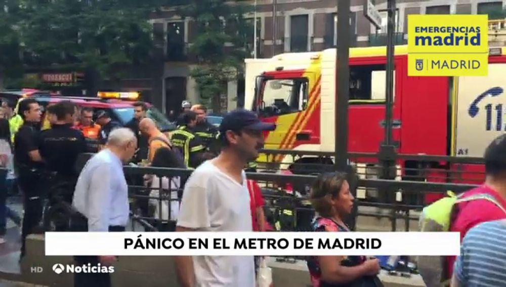 Nueve atendidos por crisis de ansiedad y tres intoxicación por la explosión un portátil en un vagón de Metro