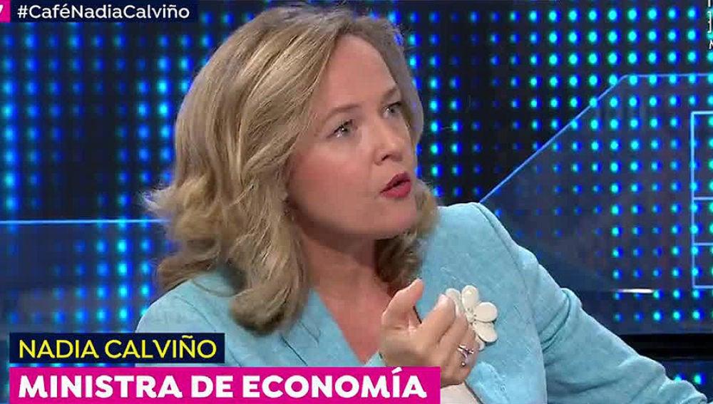 Nadia Calviño en Espejo Público