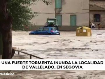 Una intensa tromba de agua sorprende a varias zonas de Castilla y León
