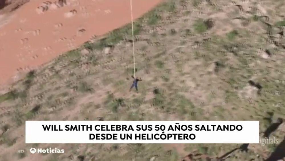 Will Smith celebra sus 50 años lanzándose al vacío desde un helicóptero en el cañón del Colorado