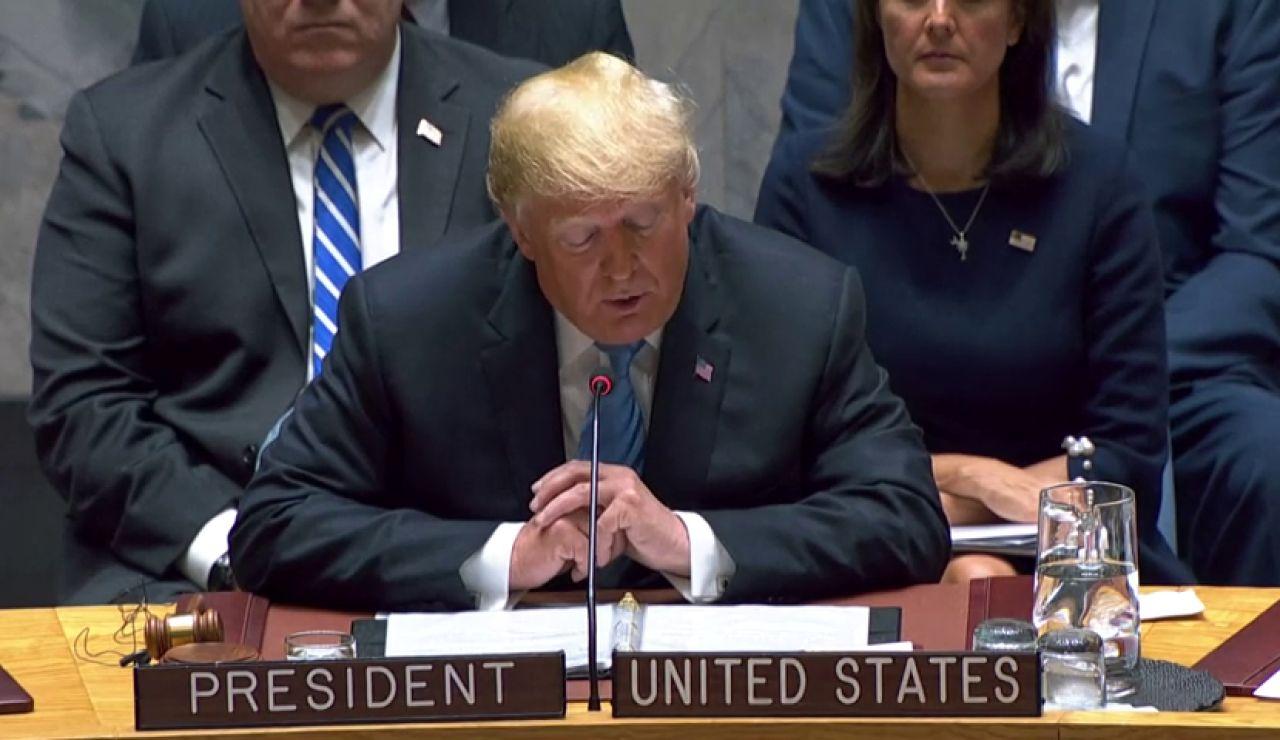 """Trump amenaza a Irán con nuevas sanciones """"más fuertes que nunca"""": """"Todas las opciones están sobre la mesa"""""""
