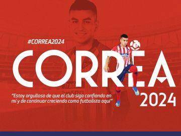 Ángel Correa, renovado hasta 2024