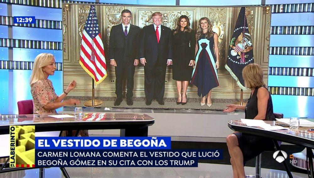 """Carmen Lomana, sobre el vestido de Begoña Gómez con los Trump: """"Es espantoso, parece una azafata de 'American Airlines'"""""""