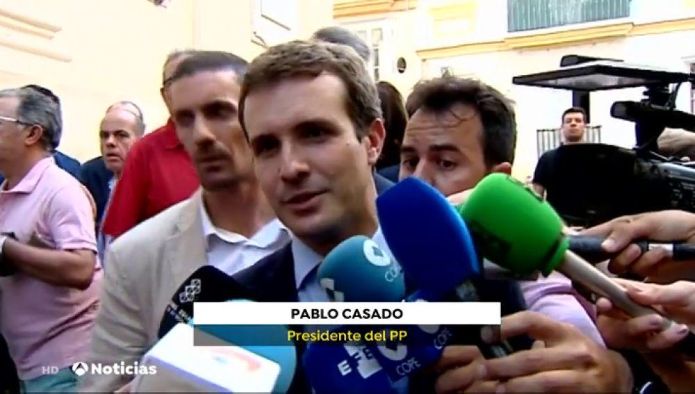 """Pablo Casado, sobre Pedro Sánchez: """"Es rehén de lo que le exige a los demás"""""""