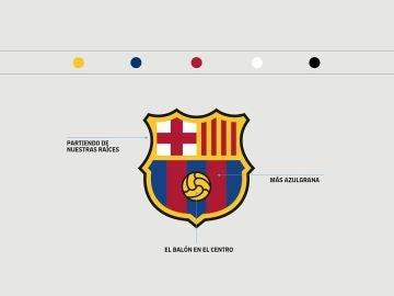 El nuevo escudo del Barcelona