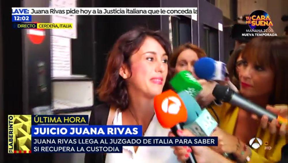 """Juana Rivas, esperanzada con la decisión del juicio: """"Todo se va a arreglar y nos va a dar paz"""""""
