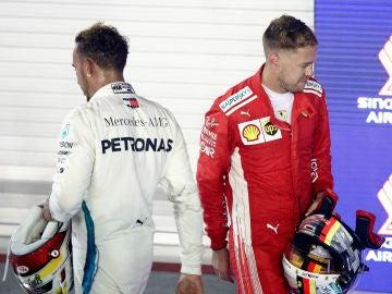 Hamilton y Vettel siguen su cara a cara por el Mundial