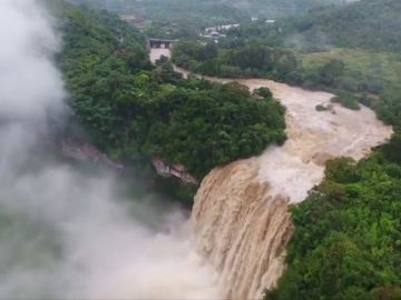 El espectáculo de las cataratas más grandes de China