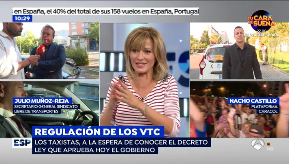 """Susanna Griso defiende la pluralidad en el conflicto del taxi y los VTC: """"En este programa hay usuarios de VTC pero yo cojo el taxi"""""""