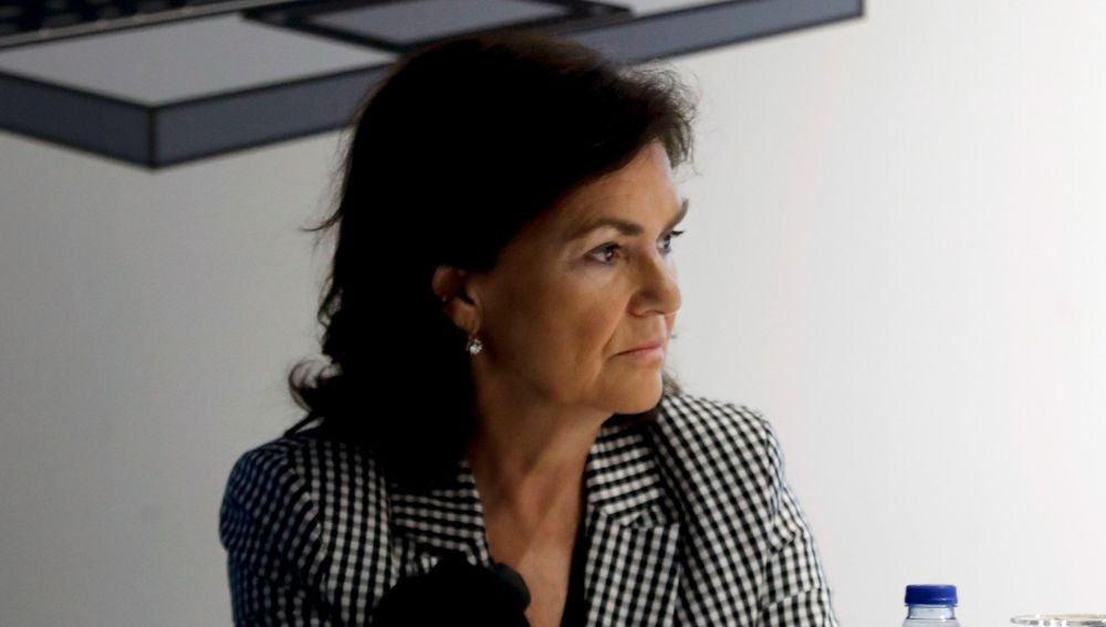 a vicepresidenta del gobierno Carmen Calvo