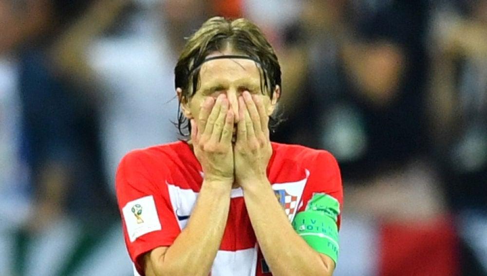 Modric, durante la final del Mundial de Rusia