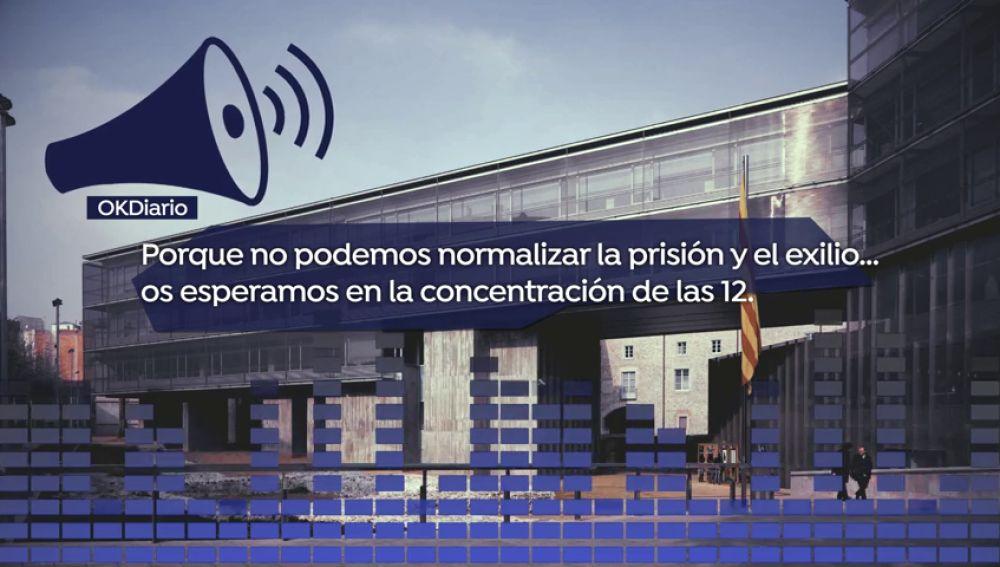 La Generalitat insta a sus trabajadores en Girona a manifestarse para pedir la libertad de los políticos presos