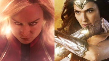 'Wonder Woman' y 'Capitana Marvel'