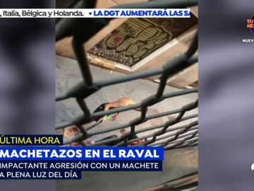 El vídeo de la brutal agresión a machetazos entre dos vecinos del barrio del Raval en Barcelona