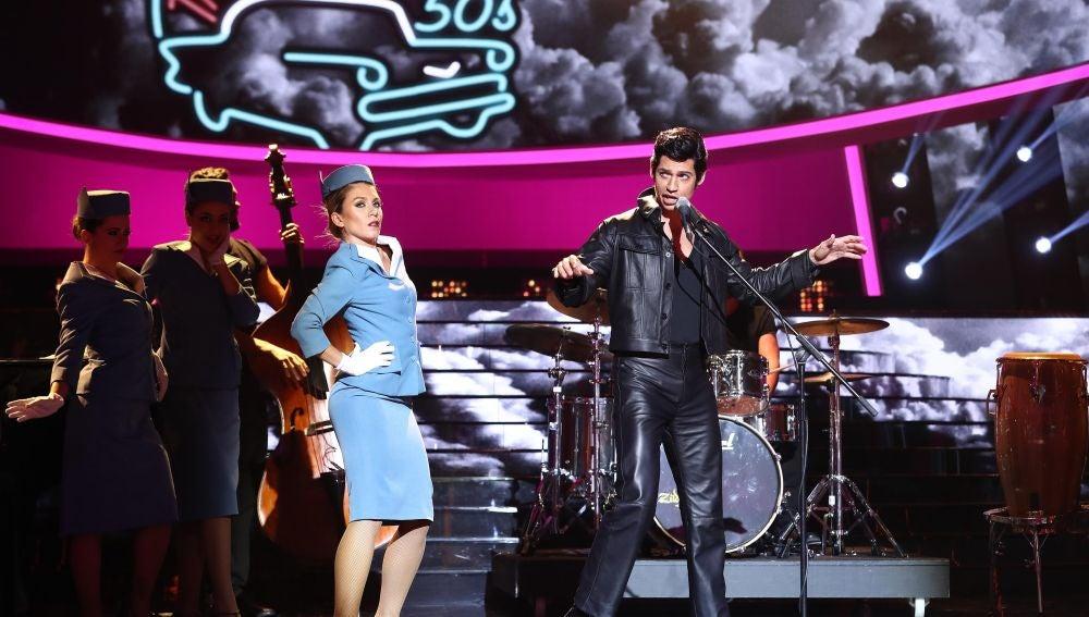 Carlos Baute, un auténtico rey del rock en 'It's now or never' de Elvis Presley