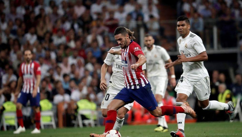 Koke, durante el partido contra el Atlético de Madrid